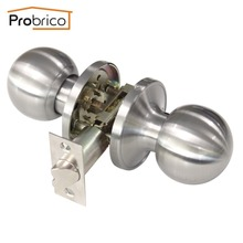 Probrico Wholesale 10 PCS Stainless Steel Passage Keyless Door Lock Satin Nickel Door Knob And Door Handle DL607SNPS