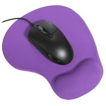 PROMOTION! Mousepad with silicone gel wrist rest Mousepad ergonomic for mouse PC Purple