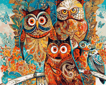 Frameless Pictures DIY Oil Painting By Numbers Paint On Canvas Modern Wall Pictures For Living Room Abstract Oil painting owls(China)