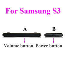 1pcs 5 colors available Power Volume Button Key for Samsung flex Galaxy S3 i9300 i9305 i535 i747 L710 T999(China)
