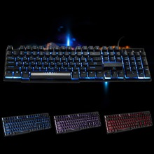 Russian Version USB2.0 Wired Gaming Keyboard 3 Colors LED Backlit Keycaps Mechanical Feel Computer Mac PC - your are my sunshine store