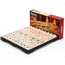 Portable Chinese Chess Set Magnetic Foldable Board Game 25*25*2 cm Xiangqi Travel Chess Game for Entertainment(China)
