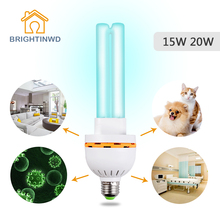UV Sterilizer Home Ozonizer Lamp 220V 15W 20W UV Bulb Ultraviolet Disinfection Germicidal Lights Lamp for Home E27(China)