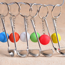 Golf Key Chain for Men and Women Candy Colors Keychain for Car Metal Sports Ball Keyrings Best Gifts Key Chains