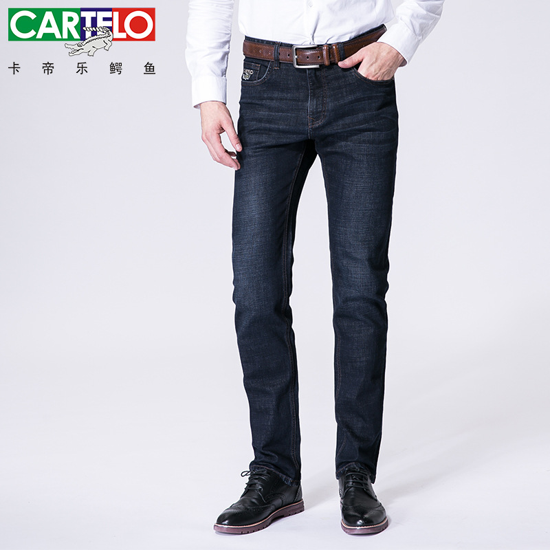 Cartelo brand 2017 mens long jeans brand elastic soft skin friendly fashion jeans business casual styleÎäåæäà è àêñåññóàðû<br><br>