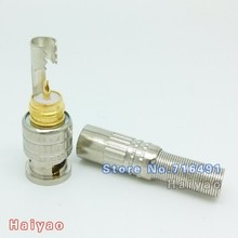 50PCS Soldering BNC Male Connector Plug RG59 Coaxial Cable Coupler welding Adapter for video CCTV Camera(China)