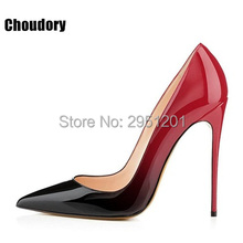 Hot Brand Shoes Woman High Heels Wedding Shoes Black/Red Patent Leather Women Pumps Pointed Toe Sexy High Heels Shoes Stilettos(China)