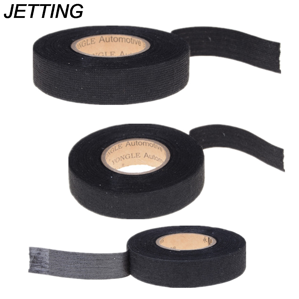 1 Roll 15M*19MM Adhesive Cloth Fabric Tape Heat-resistant Automotive Wiring Harness Tape  Cable Wiring Harness For Car Auto