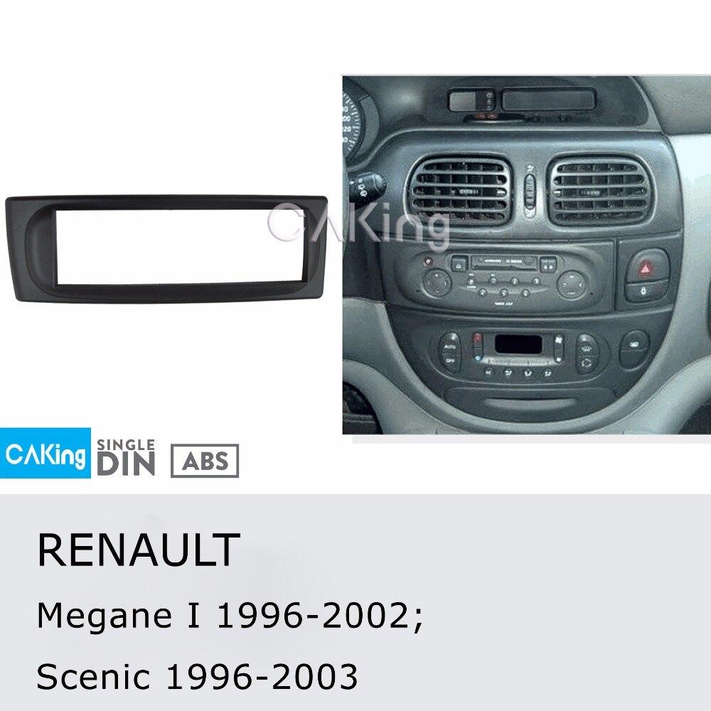Renault Clio Megane Scenic 1 Din Single Radio Facplate Fascia Frame Panel Dash