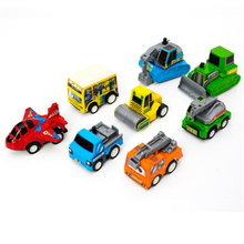 8PCS Baby Mini Car Toys Lot Set Educational Plane Car Plastic Engineering Vehicle Model Dinky Military Vehicles Gift Toy Tractor(China)