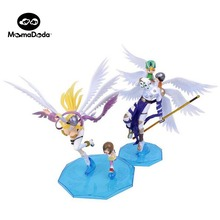 One Pieces Resin Digital Monster Action Figure Digimon Adventure Anime Dolls Toys For Chidlren Simulation Agumon Gabumon Toys