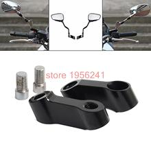 Black Bolts Size 10mm Mirrors Extension Riser Extend Adapter For Yamaha MT-09 MT-07 MT07 Fazer FZ-07 FZ-09 V-max1700 V-max 1700(China)