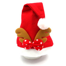 Red Christmas Hat Adult Child Cute Elk Antlers Santa Claus Hats Xmas Holiday Party Decorations Supplies
