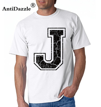 Antidazzle Michael Jordan J the Letter Men's Short Sleeve T shirt T shirt O-neck Male T-shirt Tees Tops Hipster Design