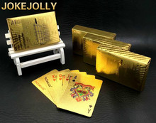 Euro Design Gold Poker Plastic Waterproof Playing Cards For Gambling Board Game Poker Cards High Quality GYH(China)