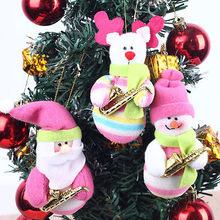 3pcs/set Reindeer/ Snowman /Santa Claus Ornament Cute Christmas Stocking New Year Christmas Decoration wholesale Kid's Gift