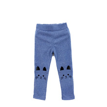 Toddler Baby Girls Kids Skinny Pants Cute Cat Print Stretchy Warm Leggings(China)