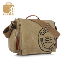 High Quality Handbags Famous Brand 2016 Bag Big Women Canvas Messenger School Bag Men For High School Fashion Men Satchel Khaki