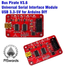 Latest 2017 Bus Pirate V3.6 Universal Serial Interface Module USB 3.3-5V for Arduino DIY