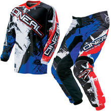 2018 O Neal Element Shocker Motocross Satz blau Anzug MX Off-Road ATV Quad Track Downhill jersey+pants(China)