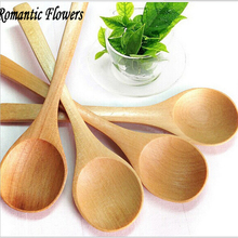 Latest small wooden spoon 5 pieces of environmentally friendly fragrant wood mixing spoon handmade coffee spoon free shipping(China)