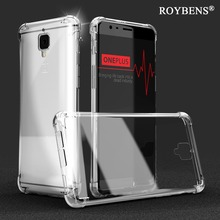 Roybens Anti-Knock Oneplus 3 Cases Original Transparent Clear Cover For Oneplus 3 Silicone TPU Case For One Plus Three Soft Capa