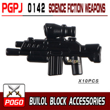 10pcs/set PGPJ0136-0145 Science Fiction Weapon Gun  DIY Bricks Toys for Children Building Blocks POGO