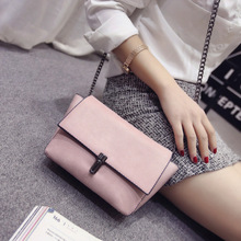 Bag Ladies 2017 Spring Summer Korean PU Leather O Bag Mini Bags Chain Shoulder Message Single Soft Versatile Flab Bag Pink Black