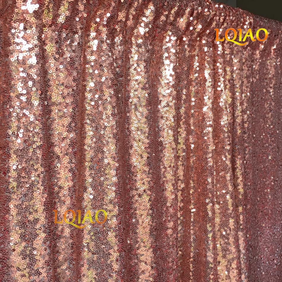 Rose Gold Sequin Backdrop-001