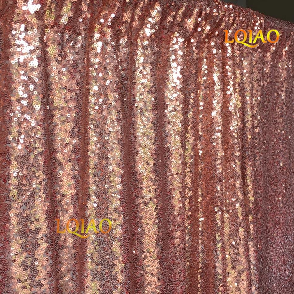 Rose Gold Sequin Backdrop-001