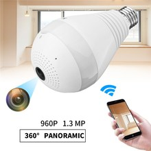 360 Degree VR 960P HD WIFI Hidden Panoramic View Smart Light Bulb 1.3MP Camera Monitoring Fish Eye 2.4G Wireless CCTV Security(China)