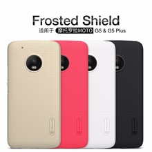 Case For Motorola MOTO G5 / MOTO G5 Plus NILLKIN Super Frosted Shield back cover with free screen protector and Retail package