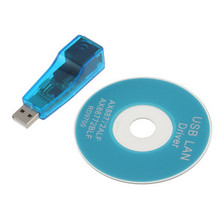 1 pcs USB 1.1 To LAN RJ45 Ethernet 10/100Mbps Network Card Adapter blue for PC Promotion