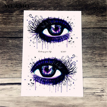 Waterproof tattoo custom color bright blue eyes personality tattoo tattoo stickers manufacturers selling SC2977 WU&MO(China)