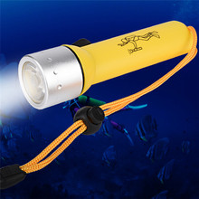 High Quality Underwater 1200LM CREE XM-L T6 LED Diving Flashlight Torch Lamp Light Waterproof(China)