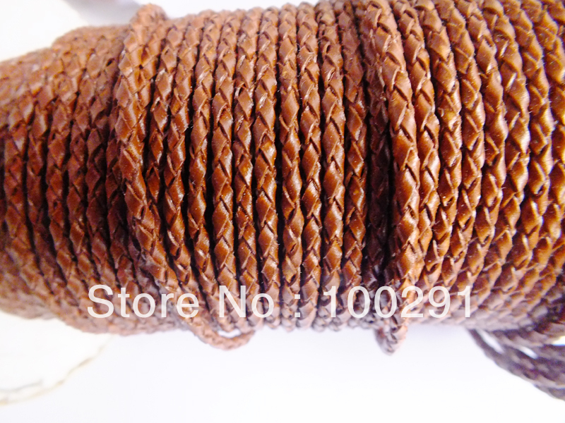Free shipping !!! DIY jewelry 3mm braided strings leather cord rope lines ,100m/lot jewelry accessories X01569