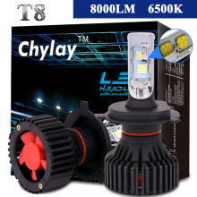 1 Pair Car Headlight H7 Led H4 H11 9005 9006 9007 XHP50 LED Headlights Bulb 60W 8000LM Automobile headlamp Fog Light 6500k(China)