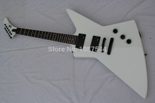 Factory Guitar+ ESP Custom Explorer James Hetfield White Electric Guitar with EMG 9V Battery Active Pickup Free Shipping(China)