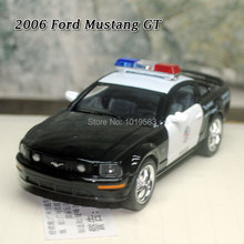 (5pcs/pack) Wholesale Brand New 1/38 Scale Diecast Car Model Toys 2006 Ford Mustang GT Police Ver. Metal Pull Back Car Toy
