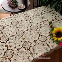 free shipping cotton crochet lace table cloth table cover with flowers decor as wedding decoration lace tablecloth