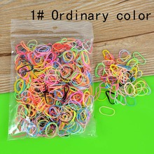 1000pcs Tiny TPU Elastic Rubber Hair Bands for Doll Reborn Baby Kid Girl