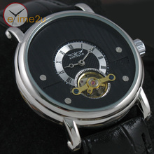 New Luxury Sport Style Rome Num Automatic Tourbillon Skeleton Design Mechanical Mens Wrist Watch(China)