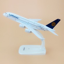 Alloy Metal Germany Air Lufthansa A380 Airlines Airplane Model Lufthansa Airbus 380 Airways Plane Model Aircraft Kids Gifts 16cm(China)
