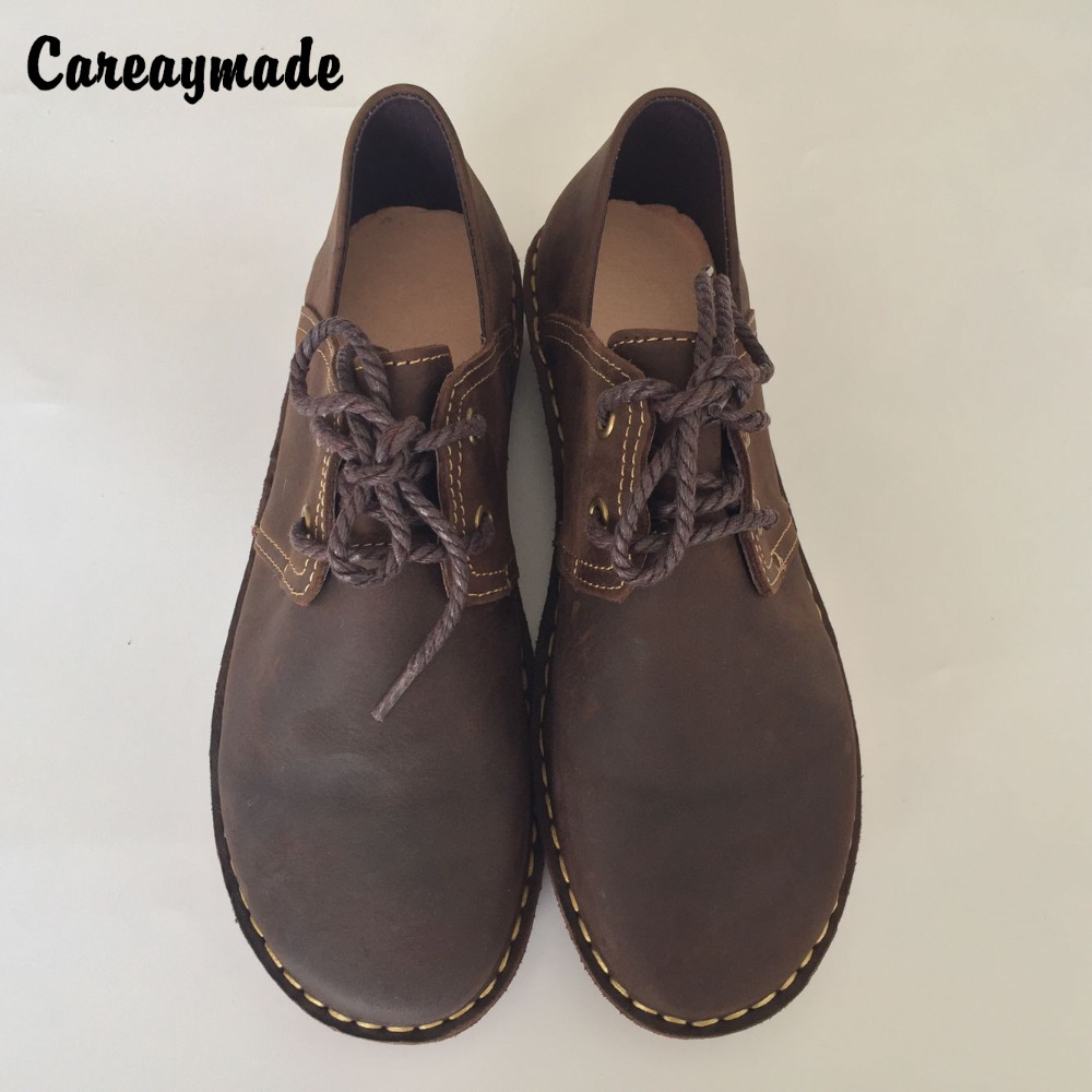 Careaymade-New 2017 wind horsehide leather buckle mori girl casual shoes cute doll shoes big head shoe do old handmade shoes<br>