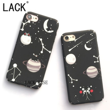 LACK Fashion Starry sky Bear Case For iphone 7 Cute Cartoon Animal Moon Night Hard PC phone Cases For iPhone 7 6 6S Plus Cover