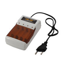 Universal AAA AA Battery Charger AC 220V EU Plug 4 Ports NiMH NiCd Standard Batteries Charger for RC Toys Electronics