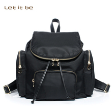Let it be women backpack nylon oxford mini barrel women bag for school travel waterproof small mochila brand design(China)