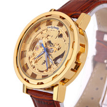 2016 Casual Hardlex Analog Round Genuine leather  Limited Sale Special Offer Men Dragon Steel Chain Automatic Mechanical Watches