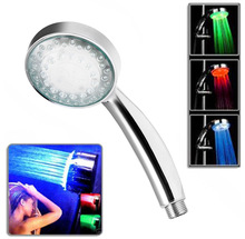 LED Shower Head Sprinkler Bathroom Hand Shower Water Temperature Control 3 Colors Changing Led Light Shower head Bath Sprinkler