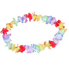 High Quality 10PCS Hawaiian DIY Party Beach Flower leis Garland Necklace Fancy Dress Party Hawaii Beach Fun Flowers Decoration(China)